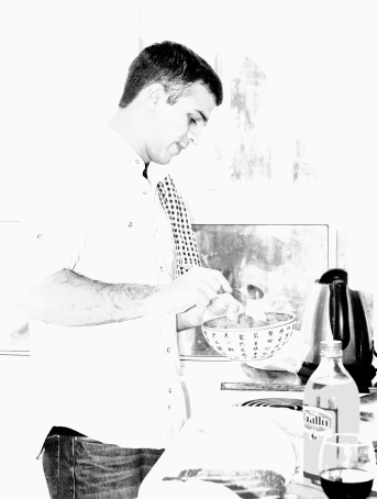 Devon in the kitchen at Xmas