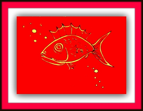 red fish framed