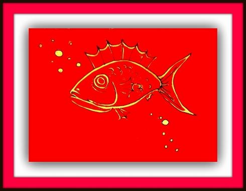 red fish framed